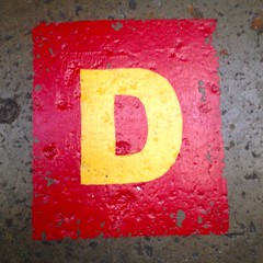 Letter D_IMG_7880 (Lynn Friedman) Tags: sanfrancisco ca b red usa yellow square word concrete stencil paint floor d label c row spell f e scrabble font letter alphabet helvetica 94103 organize missionst a lynnfriedman discountlumber 1695missionstreet 4156218511 wwwdiscountbuilderssupplysfcom