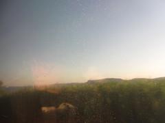 Crying, Waiting, Hoping (Robert Saucier) Tags: blue trees sky usa blur reflection green window glass train vert bleu reflet ciel arbres amtrak cristal fentre flou buddyholly vitre cline img2018 cryingwaitinghoping