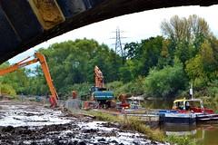 Arpley  - Warrington (Duane Jones Cheshire1963) Tags: trees orange river warrington hole cheshire mud crane agency homer cutting environment dig mersey excavation arpley
