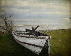 Seen better days (`·.¸ Susan .•*´)¸.•*´) Tags: old canada broken boats nikon manitoba textures weathered distressed scavengerhunt d300 lakewinnipeg heclaisland heclavillage
