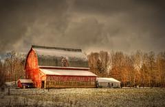 Old barn (Notkalvin) Tags: winter snow cold barn rural michigan north cadillac oldbarn mikekline michaelkline notkalvin notkalvinphotography