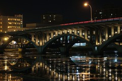 Night Time in the City (tieulinhclc - Thanks for 1 million + views) Tags: bridge night river nightlights il nighttime rockford nationalgeographic dazzlingshots dlphotography dandlphotography vision:outdoor=0625 vision:sky=0657 vision:dark=0887