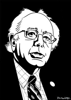 From flickr.com/photos/47422005@N04/11239604203/: Bernie Sanders in black and white, From Images