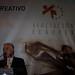 Albert Sola, durante su discurso en la 6ª edición Premios del Recreativo - Cena navidad 2013