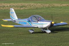 G-CCBM - 2003 build Aerotechnik EV-97 Eurostar, taxiing to the main apron at Barton (egcc) Tags: manchester eurostar barton microlight pfa cityairport ev97 aerotechnik egcb rotax912 gccbm 31514023