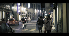 City Lights (Orione59) Tags: street people urban italy canon photography florence bokeh candid streetphotography tuscany firenze cinematic ef135mmf20 5dmk3 orione1959 orionephotographer