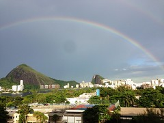 Rainbow in Rio de Janeiro, Brazil