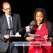 Co-hosts Brian Lehrer and Farai Chideya, Dreams for NYC Inspired by Martin Luther King Jr., WNYC & Apollo Theater, Harlem, New York City