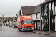 Even more dodgy Parking in Bishops Stortford . (AndrewHA's) Tags: road truck parking bad junction lorry delivery tnt hertfordshire fa daf bishopsstortford boxvan lf45 pl06pxk