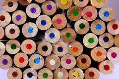 Colouring Pencils (Crisp-13) Tags: color colour macro pencil coloring colored crayon coloured colouring