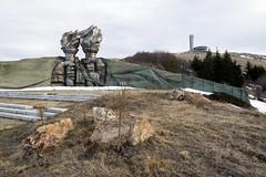 Buzludzha (jrej www.gregoirec.com) Tags: abandoned monument architecture canon torches sony communist communism bulgaria soviet a7 urbex buzludzha tse17mmf4l