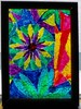 Flower and Pyramid (TreeFrogArts) Tags: art rainbow colorful mosaic kaleidoscope glassart temperedglass glassonglassmosaic