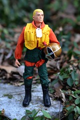 Fighter Pilot (Polish Madman) Tags: man classic yard vintage gijoe toy 40th gold back backyard doll fighter action anniversary helmet joe collection figure pilot timeless gi hasbro scramble actionman maewest gsuit palitoy