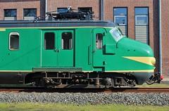 Woef (Romar Keijser) Tags: museum utrecht groen foto ns 11 utm bagage kop deur nsm 386 spoorweg maliebaan spoorwegmuseum profiel hondekop zijkant grootspoor