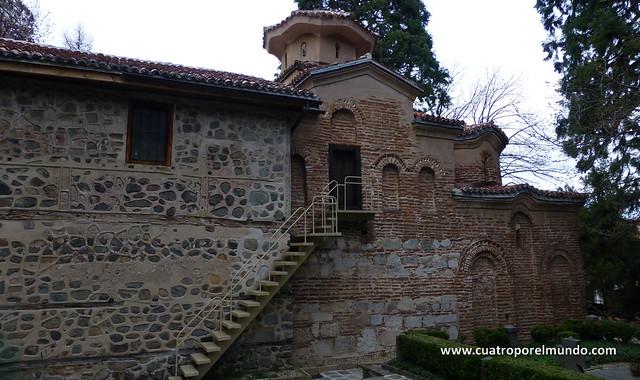 Fachada de la iglesia de Boyana