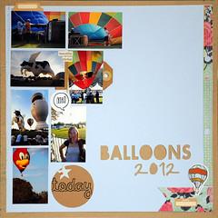 balloons 2012 (enri_75) Tags: scrapbooking sketch scrap 90 sfide sketchalicious silhouettecameo