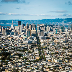 Straight Shot (chloester) Tags: san francisco downtown day cityscape afternoon view time twin panoramic summit peaks