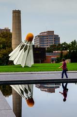 that_may_have_hit_me! #KansasCity (NetAgra) Tags: sculpture kansascity missouri badminton shuttlecock 2012 nelsonatkinsmuseum claesoldenburg badmitten mo64111 nikon7000 4525oakstreet