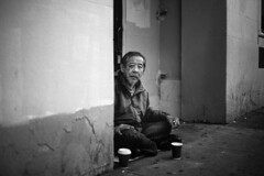 (luana lee photography) Tags: sanfrancisco lighting portrait people canon project photography blackwhite chinatown personal portraiture experimenting markiii withoutaroof luanaleephotography