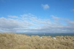 West Wittering Walk (Claire_Sambrook) Tags: sea beach grass weather magazine sand ship yacht walk bluesky huts sail beachhuts sanddunes westwittering perou edictmagazine