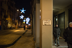 garage (Choo_Choo_train) Tags: road city italy streets sign night canon lights garage details bologna emiliaromagna 6d attenzione