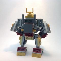 Gold Ninja Bot (Mike LEGO) Tags: robot lego hulk mech moc greenninja ninjago