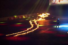 Top Gear Live, Liverpool, February 2015 (Rochdale 235) Tags: show uk liverpool fire live porsche bbc stig liveshow topgear jeremyclarkson 2015 richardhammond thestig jamesmay echoarena topgearlive