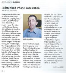 Der sterreichische Journalist: Rollstuhl mit iPhone Ladestation (bizeps) Tags: ubahn medien stephansplatz presse 2016 bericht wienerlinien pressemeldungen erwhnung pressemeldung erwhnungen