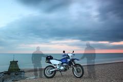 Essence (adrianwoolgar) Tags: beach spirit ghost motorbike shore motorcycle biker haunting essence drz drz400 suzukidrz400