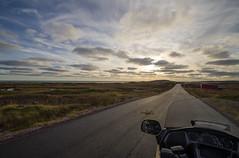 Tout est possible en moto (Mmarichka) Tags: road sunset sky cloud france colors automne landscape soleil lifestyle route ciel moto nuage paysage extrieur ontheroad couleur couherdesoleil k30