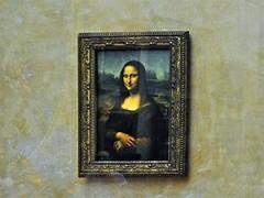 Mona Lisa (AntyDiluvian) Tags: trip paris france glass museum gallery louvre monalisa davinci leonardo behindglass 2015
