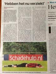 "SV Orderbos in de Stentor ""Hebben het nu verziekt"" (SV Orderbos) Tags: media apeldoorn stentor nacompetitie voetbal vv zelhem orderbos orderbossers krant nieuws"