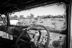 End of the road (michaelh99) Tags: abandoned broken truck desert rusted fujifilm weathered dashboard melted windscreen steeringwheel brokendown xt1