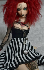 Abby (Mientsje) Tags: winter red tattoo ball funny doll dolls skin body gothic goth goat event seal mohair satan bjd normal luts hybrid abjd zenith jointed 2011 bjds souldoll