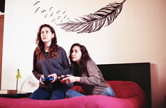 What it's like to be twins - Film (Stefania Papagni) Tags: auto camera girls light portrait italy house game color cute love film home station sisters analog self 35mm canon vintage project hair photography photo bed twins bedroom italian long italia play natural kodak ae1 pastel dream daily pale iso curly 200 indie videogame roll plus dreamy analogue asa fotografia playstation wavy ritratto letto luce italie analogica gemelle gioco longe capelli routine analogic scatto soeurs pellicola pellicule giocare italienne naturale lunghi cheveaux colorplus tumblr jemeaux