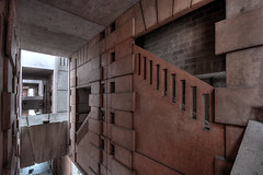 "Le Labyrinthe (Marko""76"") Tags: urban france building arc corridor passage btiment escalier immeuble larc urbex ricardobofill lethtre architecturenoclassique lepalacio marko76 espacesdabraxas"
