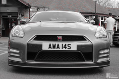 Nissan Skyline R35 GT-R | AWA 14S (Jgalea14) Tags: black car skyline canon silver grey automobile nissan outdoor sunday gray may engine lancashire r vehicle preston motor gt phantom meet supercar 22nd gtr gunmetal winger fulwood r35 100d pscm