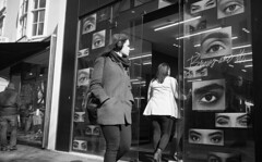 Eye Eye (4foot2) Tags: street leica people blackandwhite bw sexy film girl monochrome shop 35mm shopping mono eyes brighton kodak candid trix streetphotography summicron 35mmfilm diafine kodaktrix streetphoto shopwindow analogue m3 prettygirl peoplewatching reportage hotgirl streetshot eyeeye reportagephotography 2016 filmphotography sexygirl 35mmf2 interestingpeople leicam3 1200iso 1200asa peopleofbrighton 35mmf2summicron 4foot2 candidportrate 4foot2flickr 4foot2photostream fourfoottwo