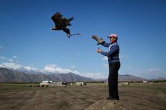 Talgar and Tumara (Lil [Kristen Elsby]) Tags: canon5dmarkii centralasia kyrgyzstan travelphotography bokonbaevo bokonbayevo issykkul lakeissykkul eaglehunter eaglehunting goldeneagle kyrgyz falconry editorial documentaryphotography topv1111