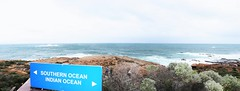 Cape Leeuwin Lighthouse Southern & Indian Ocean panorama (e-sun1) Tags: ocean lighthouse west scenery indian australia southern