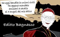 Bagnasco pontifica su unioni civili e povert: due cose che sconosce del tutto. (SatiraItalia) Tags: cei cardinale civili unioni bagnasco