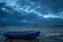 Moving With The Clouds (Kimberley Hoyles) Tags: morning sky beautiful night clouds dark landscape boats boat cloudy beaty angry stunning bluehour foreground nikond3200 movingclouds gloomie oarefaversham
