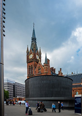 St Pancras (Fuji  X70 & 21mm Wide Lens) (markdbaynham) Tags: street city uk urban building london st prime fuji famous capital gb fixed metropolis ornate pancras f28 compact x70 21mm londoner londonist fujix 16mp transx fujiuk