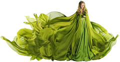 Woman in Flying Dress Fabric, Fashion Model in Green Clothes over White (noor.khan.alam) Tags: summer portrait people woman white green girl beautiful beauty fashion mystery lady female fairytale hair flying costume spring clothing model glamour long dress dancing artistic wind background fulllength young silk style wave blowing latvia clothes textile fairy fabric fantasy blond flowing gown cloth elegant waving nymph isolated fluttering fae elegance womandress