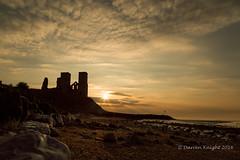 Reculver towers (TheAstroRV) Tags: sunset sea vacation sky sun seascape tower beach church clouds sunrise canon walking landscape coast rocks dusk hiking reculver