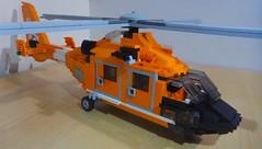 USCG Eurocopter Dauphin (3) (LonnieCadet) Tags: rescue orange brick june america coast us search lego united guard patient helicopter american states custom emergency dauphin heli trauma eurocopter moc uscg 2016 medevac