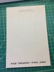 2 down, one to go (interrobang letterpress) Tags: typography helvetica letterpress stationery jamaicaplain handset duplexpaper hahnemhlebugra helveticaregularextended