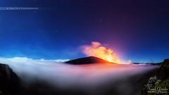 - Rverie - (Frog 974) Tags: mer de ngc nuage nuit nocturne aot volcan rve 2015 ledelarunion ruption patrimoinemondialdelunesco