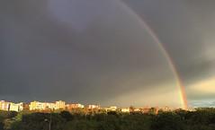Rainbow (pictumad) Tags: madrid city rain arcoiris clouds rainbow afternoon aluche nuboso enlightapp