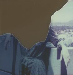 Lauryn polaroid 008Besotted Promises_ (Amandine B. Photography) Tags: pink flowers sky nature stain fleur rose architecture fleurs vintage garden polaroid solitude loneliness chaos pastel dream young jardin ciel abandon tache daydream abandonment disappear bton rve rtro disparaitre